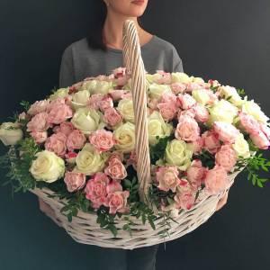 151 роза микс белые и кустовые R272